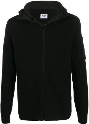 C.P. Company knitted zip up hoodie