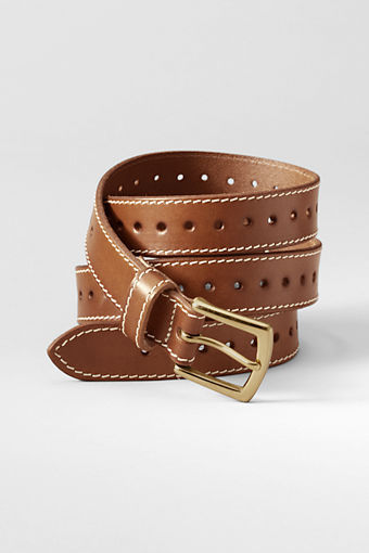 Women's Leather Single Perforated Belt