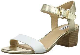 Dune Women's Izzi Ankle Strap Sandals, White-Leather, 7 (40 EU)