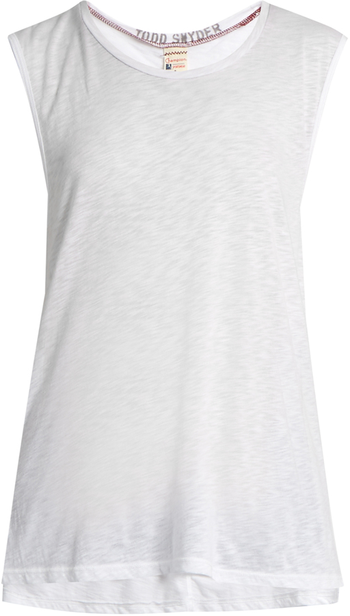 TODD SNYDER + CHAMPION Muscle cotton-blend jersey tank top