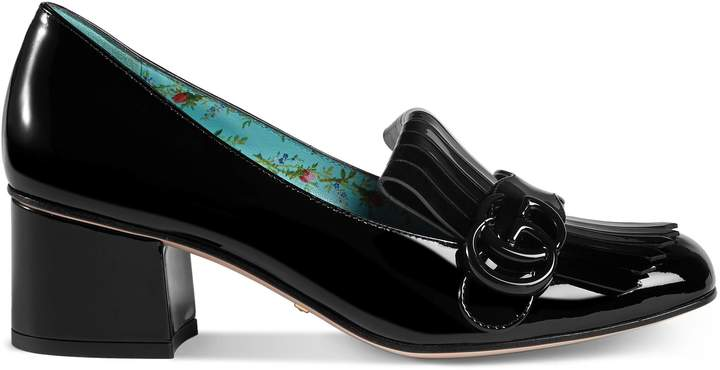 Marmont patent leather mid-heel pump