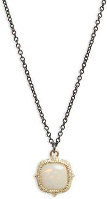 Armenta Old World Cushion Opal Drop Necklace