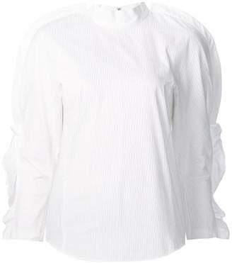 2c0fb0430bc92e White Ruffle Sleeve Blouse - ShopStyle