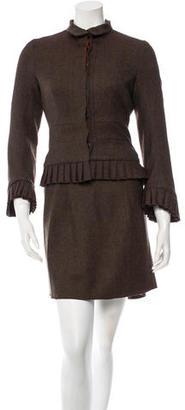 Diane von Furstenberg Wool Skirt Suit $110 thestylecure.com
