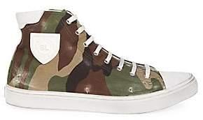 Saint Laurent Men's Bedford Camo High-Top Sneakers