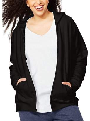 Just My Size Women's Plus-Size Fleece Zip Hood Jacket