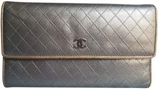 Chanel Silver Leather Wallets