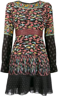 Saloni multi-print dress