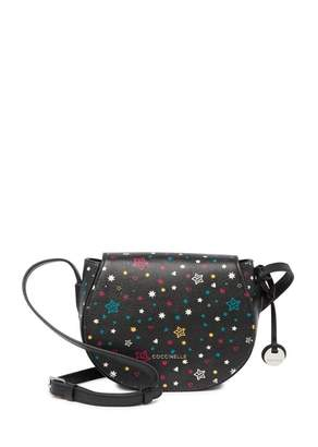 Coccinelle Printed Leather Saddle Crossbody Bag