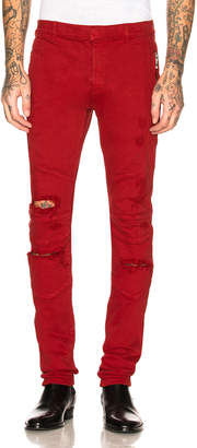 Balmain Destroyed Zip Jeans