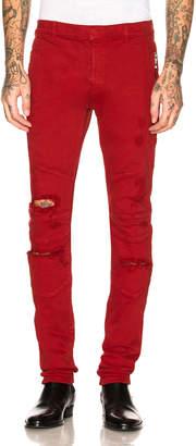 Balmain Destroyed Zip Jeans