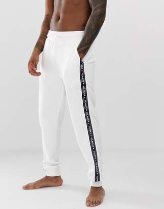 6fe6711e Tommy Hilfiger joggers with contrast side taping in white