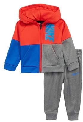 Nike Colorblock Zip Hoodie & Sweatpants Set
