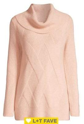 Calvin Klein Cowl-Neck Cable Knit Sweater
