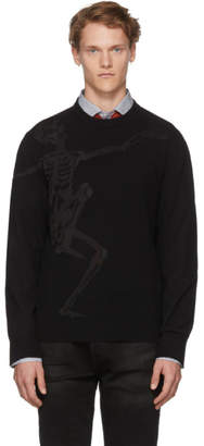 Alexander McQueen Black Dancing Skeleton Sweater