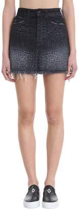 Marcelo Burlon County of Milan Leopard Denim Skirt