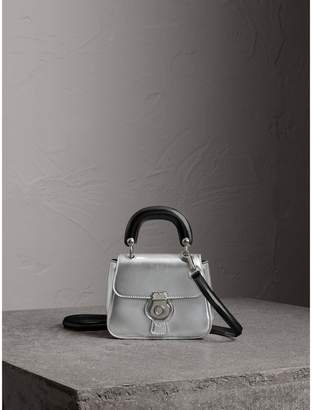 Burberry The Mini DK88 Top Handle Bag in Metallic Leather