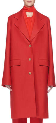 The Row Teymon Notched-Lapel Single-Breasted Oversized Wool Coat