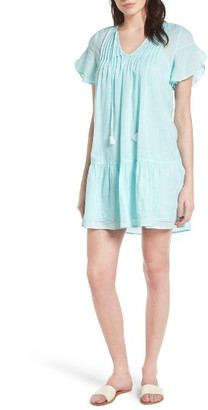 Women's Vineyard Vines Flutter Sleeves Linen & Cotton Shift Dress $148 thestylecure.com