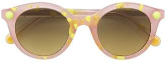 Christopher Kane Eyewear speckled round frame sunglasses
