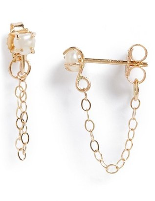 Women's Melissa Joy Manning Keshi Pearl Ear Chains $350 thestylecure.com