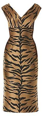 Carolina Herrera Women's Sleeveless Animal-Print Sheath Dress