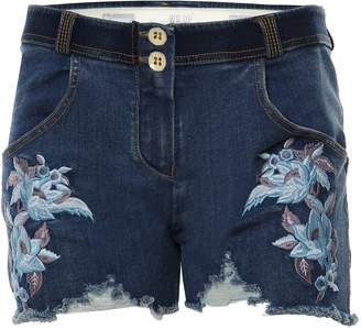 Freddy WR.up® Floral Denim Low Rise Shorts - + Yellow Stitching (, S)