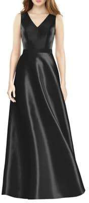 Alfred Sung Sateen Twill Gown