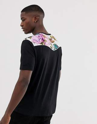 Asos Design DESIGN relaxed t-shirt with floral western yoke print
