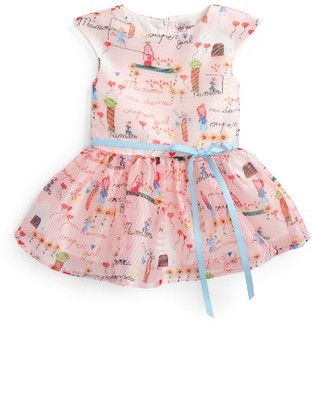 Infant Girl's Halabaloo Soft Drawing Print Fit & Flare Dress $90 thestylecure.com