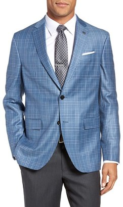 Men's Ted Baker London Tivoli Trim Fit Plaid Wool Sport Coat $695 thestylecure.com