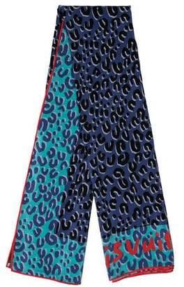 Louis Vuitton Graffiti Leopard Print Scarf