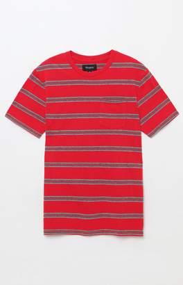 Brixton Hilt Washed Striped Red Pocket T-Shirt