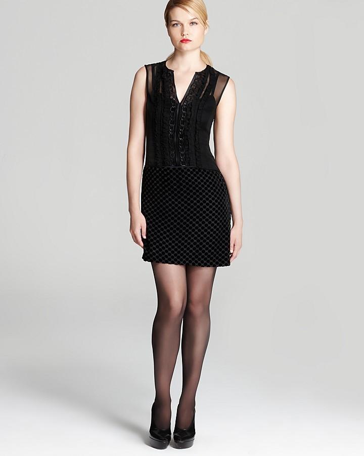 Nanette Lepore Velvet Dress - Soultrain Burnout