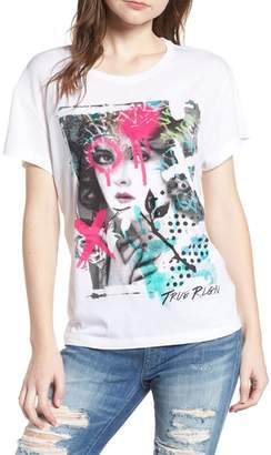 True Religion Brand Jeans Spray Paint Portrait Tee
