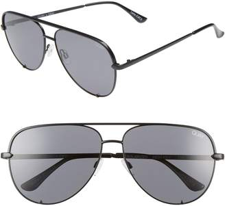 Quay x Desi Perkins High Key 62mm Aviator Sunglasses