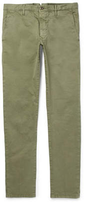 Incotex Slim-Fit Garment-Dyed Stretch-Cotton Trousers - Men - Green