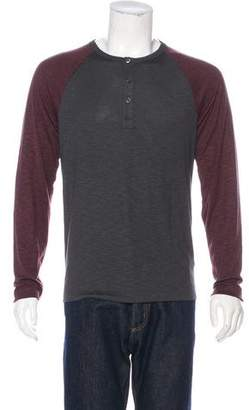 Theory Long Sleeve Henley T-Shirt w/ Tags