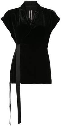 Rick Owens velvet shortsleeved blouse