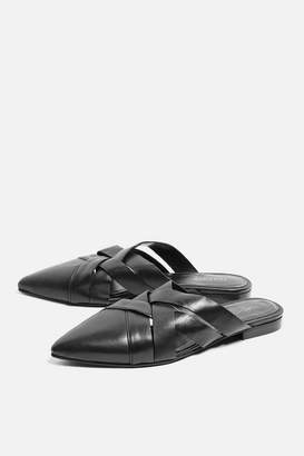Topshop Angelica Pointed Leather Mule