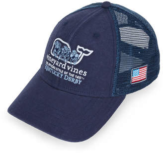 5e274966e8447 Vineyard Vines Horse Race Whale Fill Trucker Hat