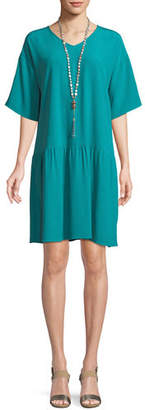 Eileen Fisher Viscose-Crepe Drop-Waist Dress