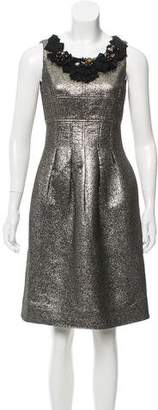Lela Rose Embellished Sleeveless Dress
