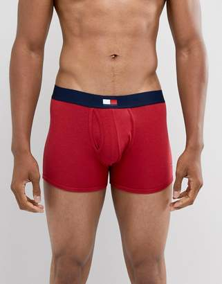 Tommy Hilfiger keyhole trunk with waistband flag in red