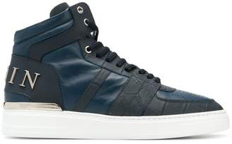 Philipp Plein crocodile detail hi-top sneakers