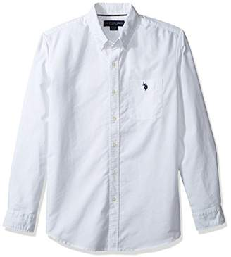 U.S. Polo Assn. Men's Solid Long Sleeve Classic Fit Single Pocket Sport Shirt