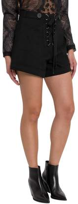 Self-Portrait Shorts With Criss-cross Detail