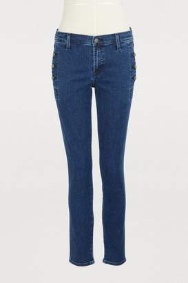J Brand Zion button mid-rise skinny jeans