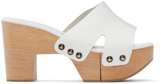 Robert Clergerie SSENSE Exclusive White Cetri Clog Sandals $550 thestylecure.com
