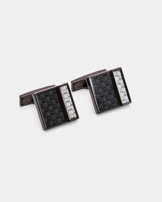 Ted Baker UNTER Carbon fibre cufflinks